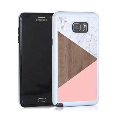 Triangle Modern Light Marble Wood And Purple For Note 5 Home - Electronics