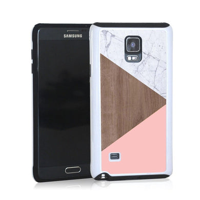Triangle Modern Light Marble Wood And Purple For Note 4 Home - Electronics