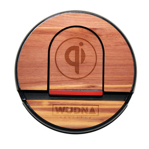 Wooden Qi Wireless Charging Pad Aromatic Cedar Product