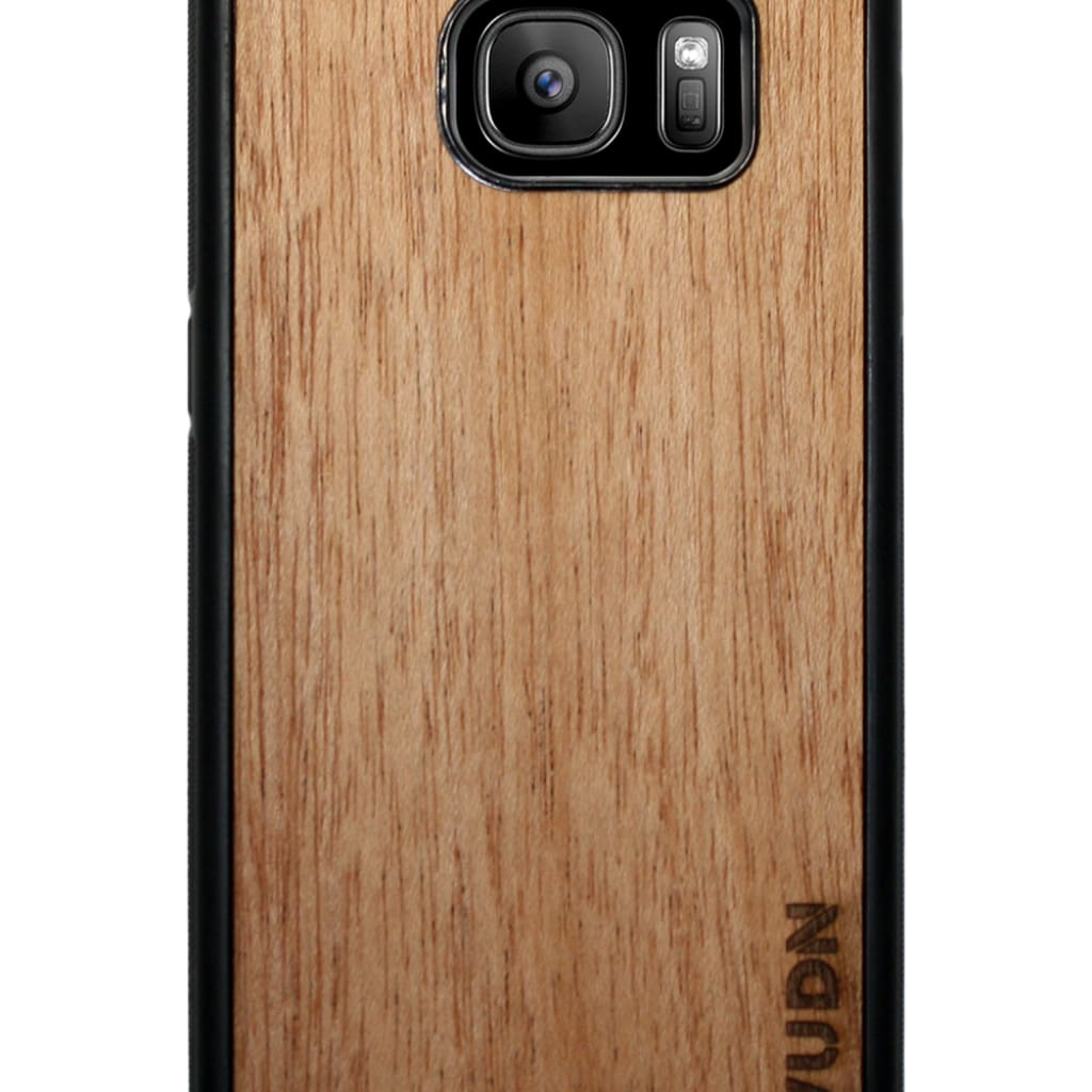 Slim Wooden Samsung Galaxy Case Black S7 / Mahogany Product