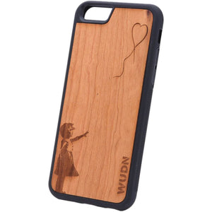 Slim Wooden Phone Case | Banksy Girl With A Balloon Product
