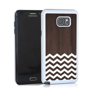 Zig Zag White On Dark Wood For Note 5 Home - Electronics