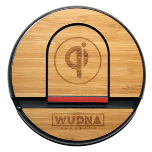 Wooden Qi Wireless Charging Pad Carmalized Bamboo Product