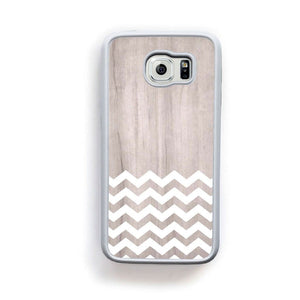 Zig Zag White On Light Wood For Galaxy S6 Home - Electronics