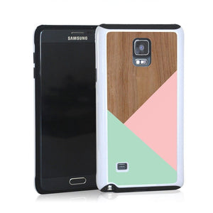 Wood Pink Turquoise Design For Note 4 Home - Electronics