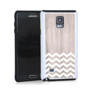 Zig Zag White On Light Wood For Note 4 Home - Electronics