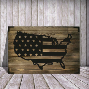 American Flag Wooden Wall Art Product