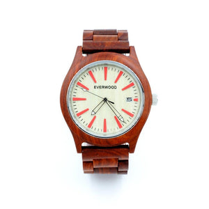 Kylemore - Red/beige (Sandalwood And Maple Wood) Men - Accessories - Watches