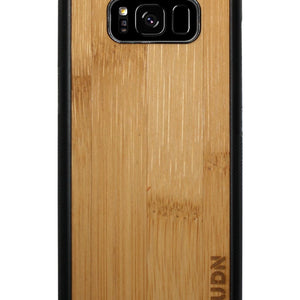 Slim Wooden Samsung Galaxy Case Black S8 / Carmalized Bamboo Product