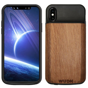 Wooden Iphone X Battery Charging Case Mahogany / Product