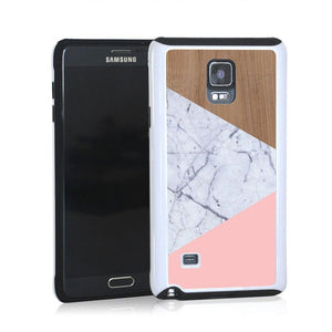 Wood Marble Pink Design For Note 4 Home - Electronics