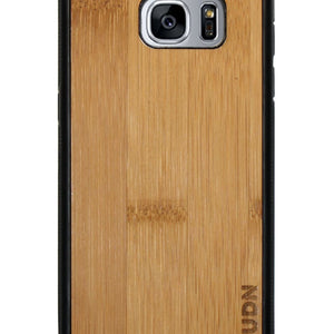 Slim Wooden Samsung Galaxy Case Black S7 Edge / Carmalized Bamboo Product