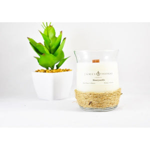 Honeysuckle Wooden Wick Candle Home - Candles