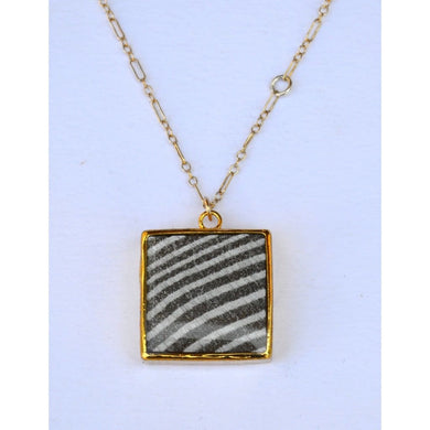 Small Silver Square Necklace Women - Jewelry - Necklaces