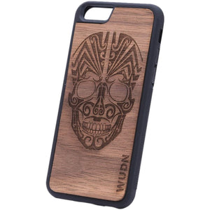Ultra-Slim Wooden Iphone Case | Tribal Skull 6 Product