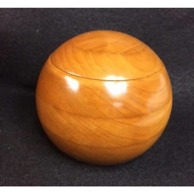 Cherry Keepsake Box 4 Inch Spherical Hardwood Turned Round Normal