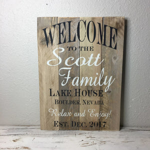 20X14 Custom Barn Wood Sign- Designed Just For You! Last Name Family Gift Sign