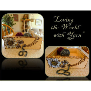 Mother Gift - Grandmother - Wife - Yarn Holder - Yarn Bowl - Box - Lrg. With Free Image And Words Of Choice - - Wood Anniversary