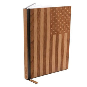 Handcrafted American Flag Wood Journal / Planner / Black Walnut Product
