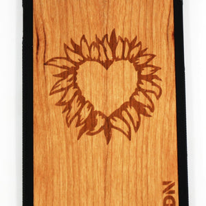 Slim Wooden Phone Case | Fire Heart Product