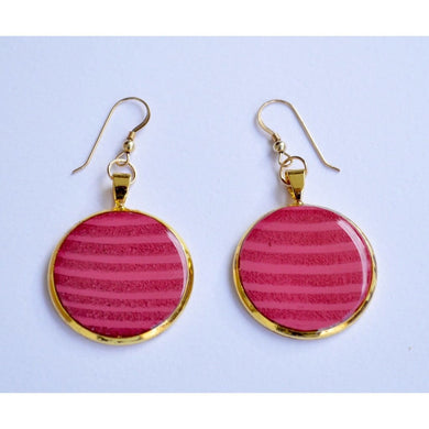 Pink And Gold Earrings Women - Jewelry - Earrings