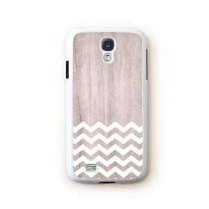 Zig Zag White On Light Wood For Galaxy S4 Home - Electronics