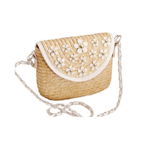 Daisy Straw Crossbody Bag Beige Product