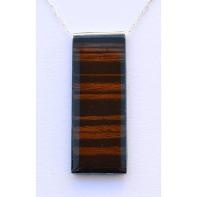 Medium Zebra Wood Pendant Men - Jewelry - Necklaces