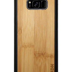 Slim Wooden Samsung Galaxy Case Black S8 Plus / Carmalized Bamboo Product