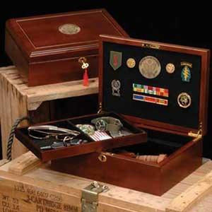 Military Wood Case Great Seal Insignia Box Hand Made By Veterans Home - Wall Art