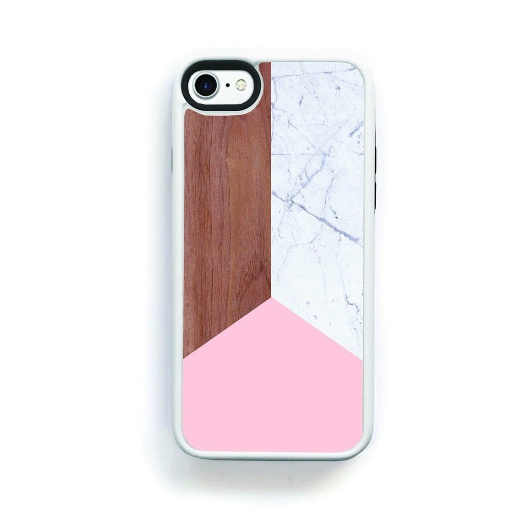 Modern Simple Wood Light Marble Pink For Iphone 7 Home - Electronics