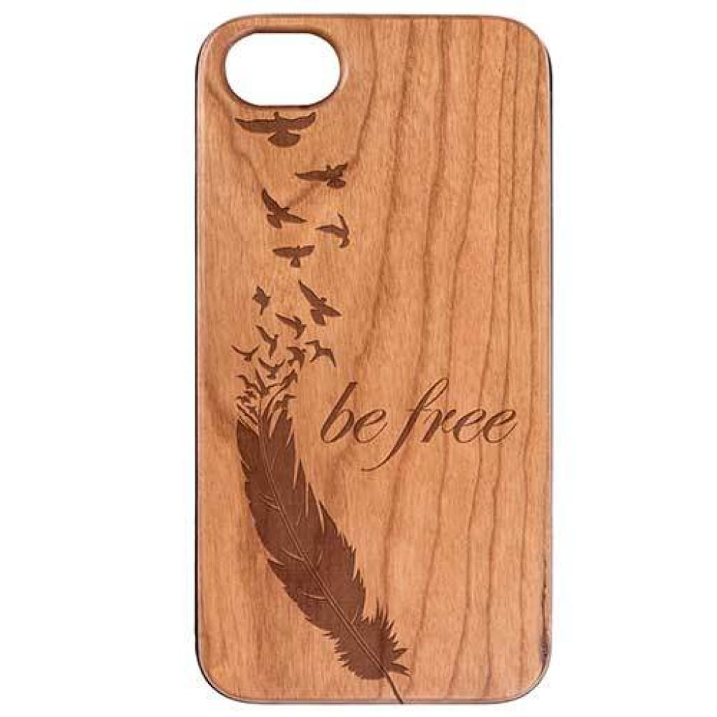 Be Free Engrave / Iphone 6/6S/7/8 Universal / Natural Cherry Product
