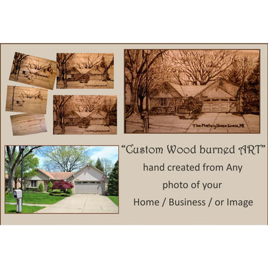 Wood Anniversary Gifts Your House Portrait Art Wood Anniversary - Couples Gift -Husband - Wife