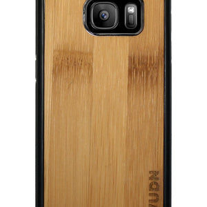 Slim Wooden Samsung Galaxy Case Black S7 / Carmalized Bamboo Product