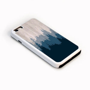 Layers Of Blue Trees On Wood For Iphone 6 Home - Electronics
