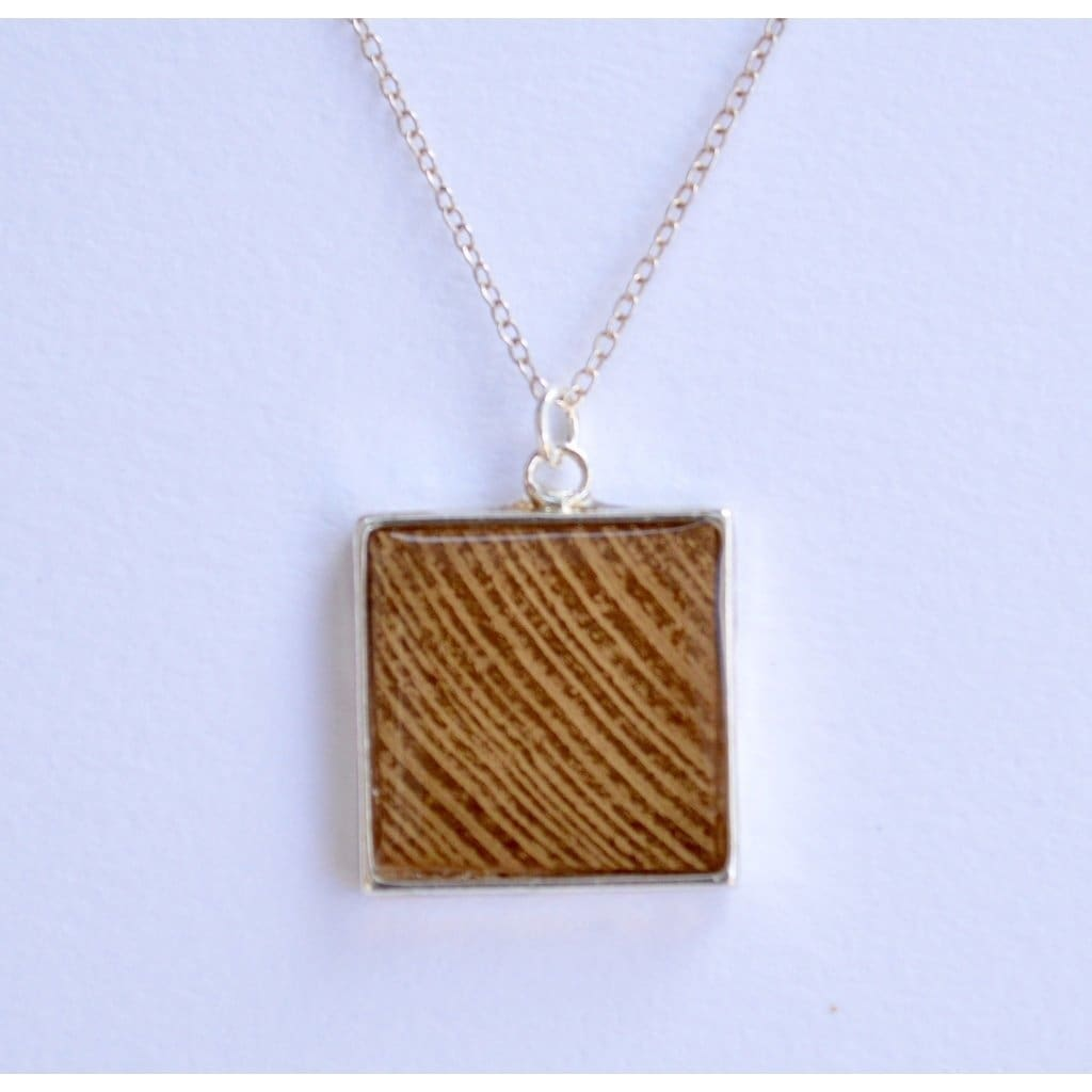 Gold Wood With Silver Women - Jewelry - Necklaces