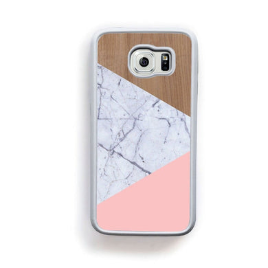 Wood Marble Pink Design For Galaxy S6 Home - Electronics