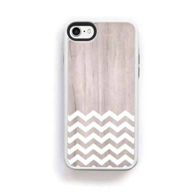 Zig Zag White On Light Wood For Iphone 7 Home - Electronics