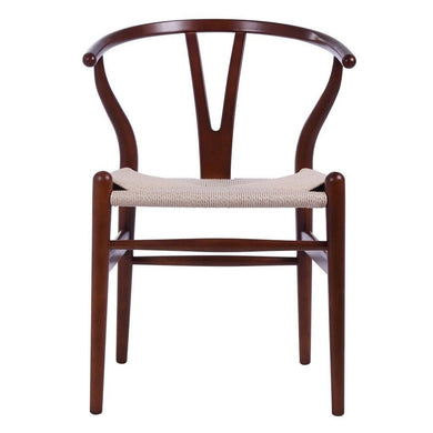 Wishbone Chair Ch24 Y - Light Walnut & Natural Paper Cord - Reproduction | Gfurn Home - Furniture