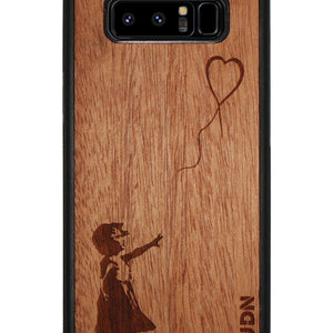 Slim Wooden Phone Case | Banksy Girl With A Balloon Samsung Note 8 Product