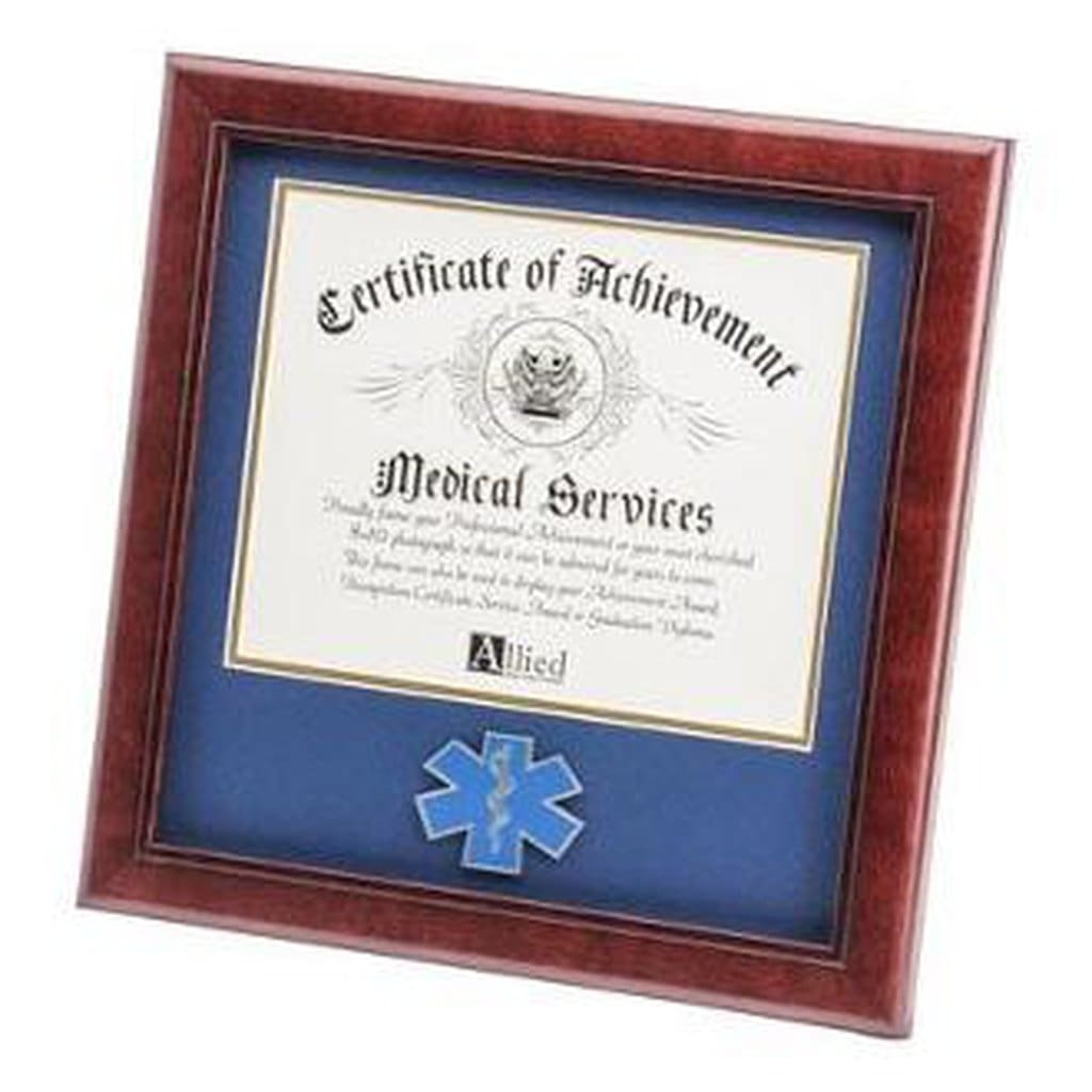 Ems Medallion Frame For 8X10 Certificate Hand Made By Veterans Home - Wall Art