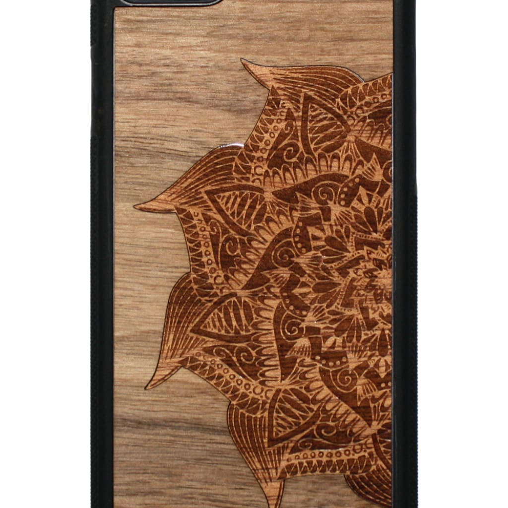 Slim Wooden Phone Case | Mandala Iphone 6 / 6S Walnut+Cedar Product