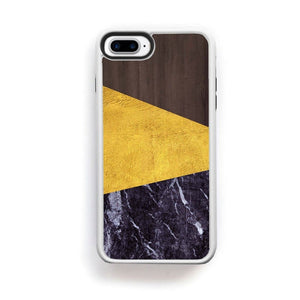 Dark Wood Gold And Dark Marble Simple Modern For Iphone 7 Plus Home - Electronics