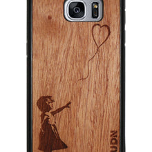 Slim Wooden Phone Case | Banksy Girl With A Balloon Samsung S7 Edge Product