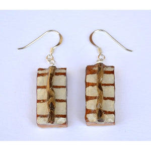 Little White Found Wood With Twig Women - Jewelry - Earrings