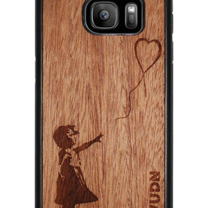 Slim Wooden Phone Case | Banksy Girl With A Balloon Samsung S7 Product