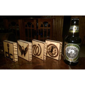 Wood Coasters - Husband Gift - Mens Ideas - Sports Logos Father Eagles Superbowl Coaster Wood Coaster Set Of 4 Vikings