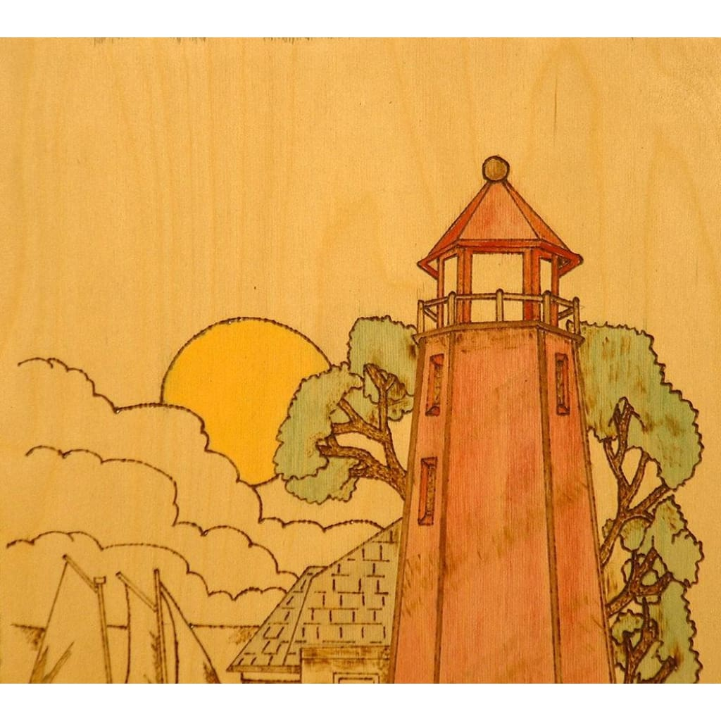 Wood Temple Llc All Rights Reserved - Lighthouse Nautical Pyrography ...