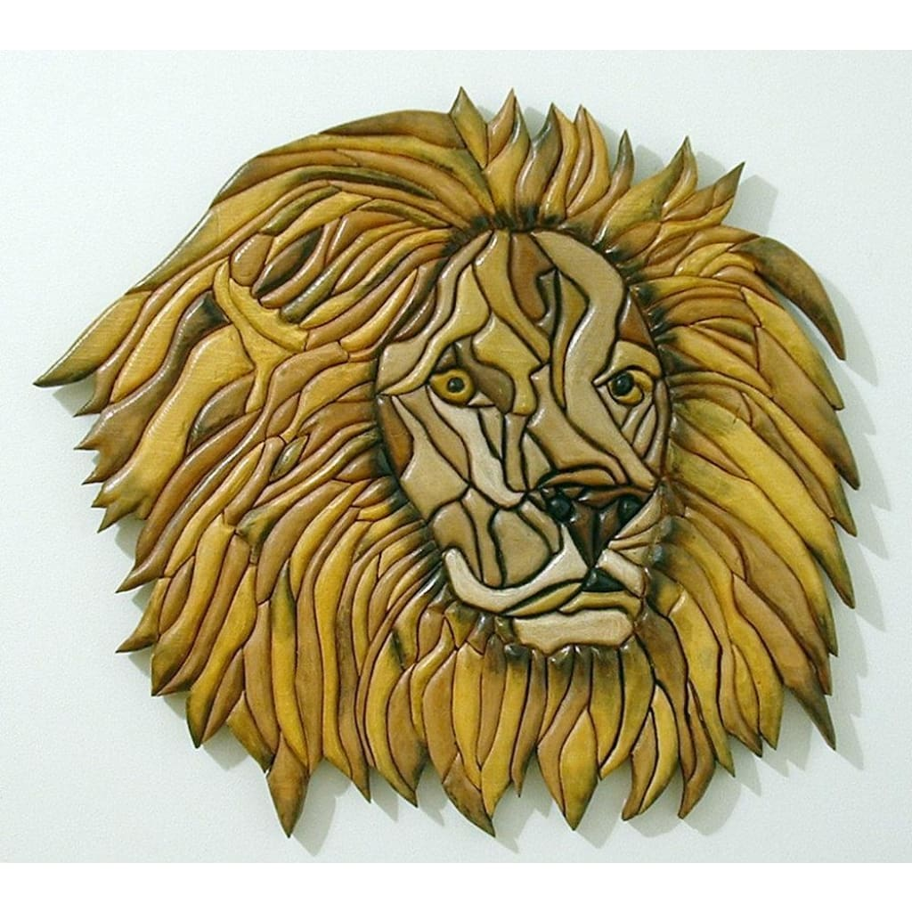 African Lion, Wood Sculpture, Wall Art, Intarsia, Safari Decor ...