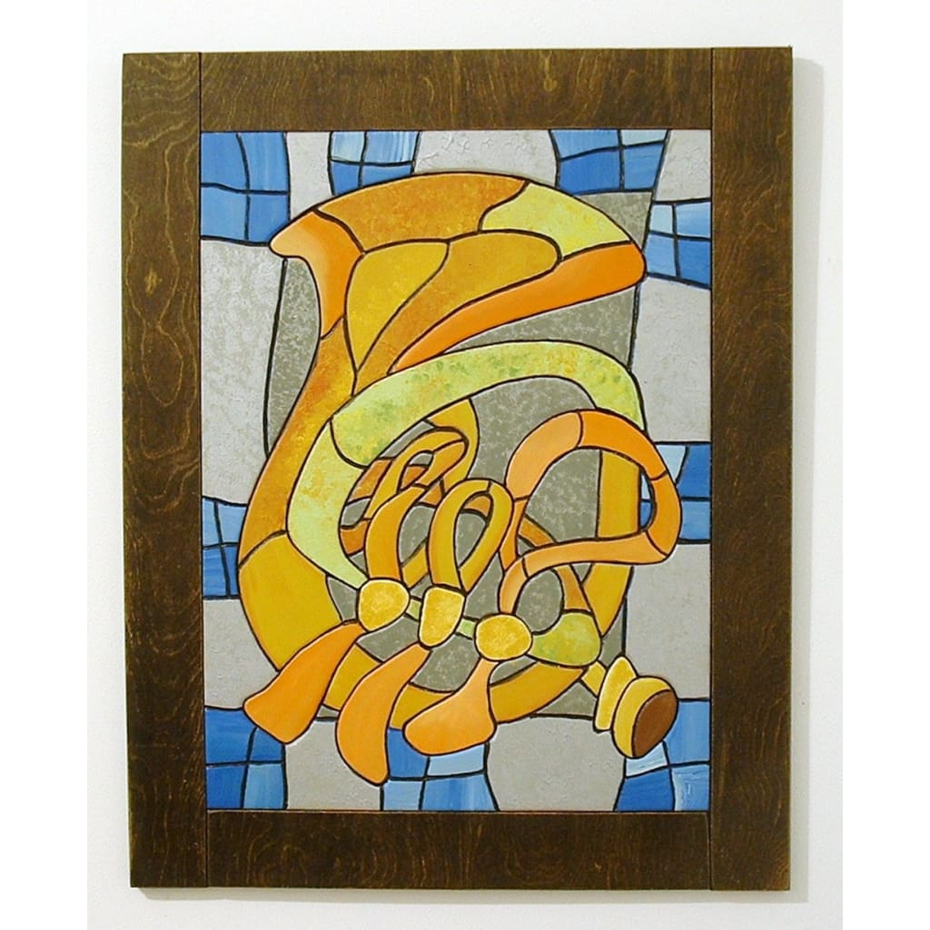Abstract French Horn, Wood Sculpture, Wall Art, Music Instrument ...